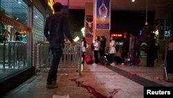 Lokasi kerusuhan di sebuah stasiun kereta api di Kunming, provinsi Yunnan, 1 Maret lalu (foto: dok).