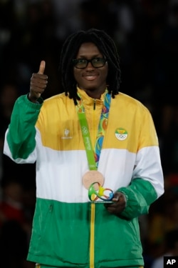 Ruth Gbagbi won a bronze medal for Ivory Coast at the Rio Olympics.