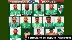 Equipa de basquetebol moçambicana Ferroviário de Maputo que vai participar na BAL, em Kigali