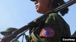 AA တပ္ဖဲြ႔ဝင္တဦး။ (မွတ္တမ္း ဓာတ္ပံု - arakanarmy website)