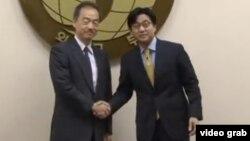 日本和韓國官員就日本申請聯合國世界遺產事宜曾舉行多輪磋商 (VOA視頻截圖)