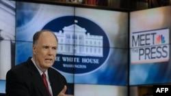 """Cố vấn an ninh quốc gia Hoa Kỳ Tom Donilon xuất hiện trên truyền hình NBC """"Meet the Press"""" ở Washington, 7/5/2011"""
