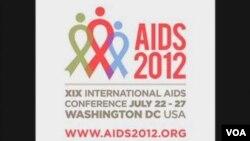 第十九届国际艾滋病大会标识(视频截图)