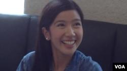 菲律賓美女記者Mischi Mediana(美国之音杨晨拍摄)