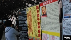 嘉年華會設有展覽,介紹中國大陸的法治及人權問題