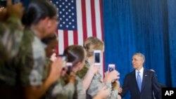Rais Obama katika kituo cha jeshi cha McDill, Florida