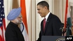 Премьер-министр Индии Манмохан Сингх и президент США Барак Обама. Белый дом. 24 ноября 2009 года