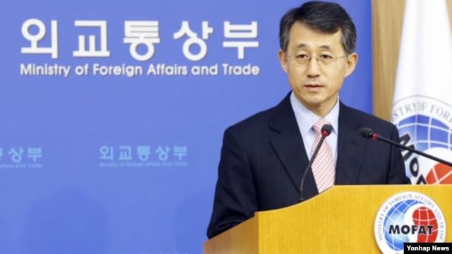 지난달 23일 유엔 안보리 대북 결의안과 관련해 브리핑 중인 조태영 한국 외통부 대변인. (자료사진)