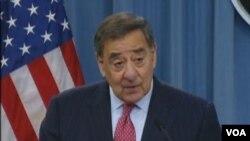 美國國防部長帕內塔(美國之音視頻截圖)