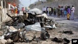 알샤바브가 지난 2월 21일 소말리아에서 감행한 테러 현장 (자료사진)