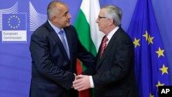 Bugarski premijer Bojko Borisov i predsednik Evropske komisije Žan Klod Junker tokom susreta u Briselu