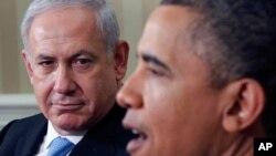 اسرائیلی وزیر اعظم بنجمن نتن یاہو اور صدر براک اوباما