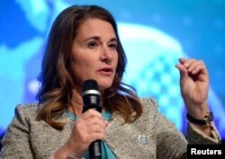 FILE - Melinda Gates, shown at a 2017 meeting in Washington, says the Gates Foundation has made Africa a priority on which it already has spent more than $15 billion.