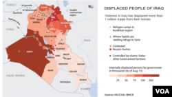 Displaced people of Iraq, Aug. 15, 2014