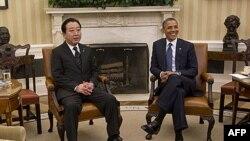 Президент Барак Обама зустрічає в Білому домі прем'єр-міністра Японії Йосіхіко Ноду