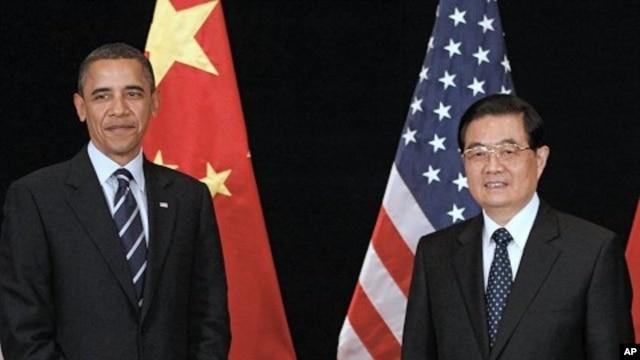 U.S. President Barack Obama and China's President Hu Jintao (File Photo).