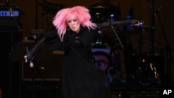 Singer Cyndi Lauper performs at The Music of David Bowie tribute concert at Carnegie Hall on March, 31, 2016, in New York.