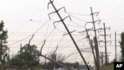 美國東岸的強烈風暴在多個地區導致停電