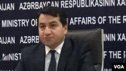 Azərbaycan Xarici İşlər Nazirliyinin mətbuat xidmətinin rəhbəri Hikmət Hacıyev