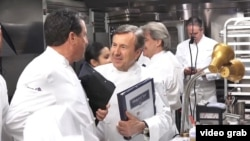 Chef Daniel Boulud, center, as well as chefs Thomas Keller and Jérôme Bocuse, started a nonprofit called Ment'or that helps aspiring chefs.