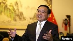 中国驻秘鲁大使贾桂德2018年4月11日接受路透社采访(路透社)
