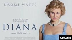 """Cartel de la película """"Diana"""", con Naomi Watts."""