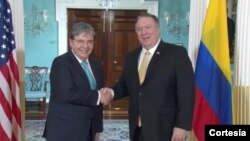 El miércoles se espera que el canciller se reúna con John Bolton, asesor de Seguridad Nacional de la Casa Blanca. Photo: Cortesía - Cancillería Colombiana