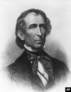 John Tyler, the 10th president of the United States, 1841-1845, is shown in this undated illustration. (AP Photo)