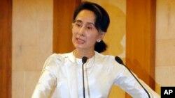 Biểu tượng dân chủ của Miến Điện, bà Aung San Suu Kyi.