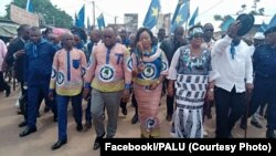 Bakangi ya Palu bazali kotambola na Kinshasa, RDC, 3 février 2020. (Facebook/PALU)