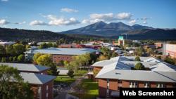 Vista general de la Universidad de Northern Arizona en Flagstaff.