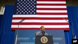 President Barack Obama speaks at Henninger High School in Syracuse, N.Y., Aug. 22, 2013.