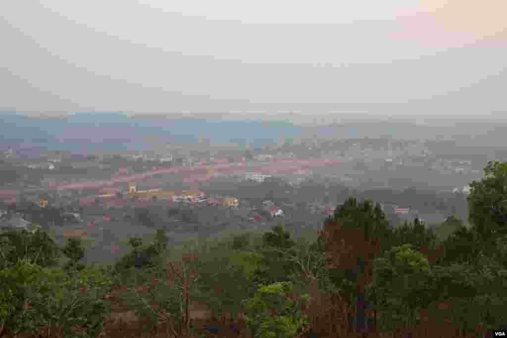 A landscape view of Sen Monorom, provincial capital of Mondulkiri province, Cambodia. (Nov Povleakhena/VOA Khmer)