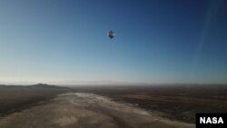 When heated by the Sun, the balloons rise into the atmosphere and descend in the evening. Low-frequency sound waves caused by an aftershock were recorded by one of the balloons on July 22, 2019. (Photo Credit: NASA/JPL-Caltech)
