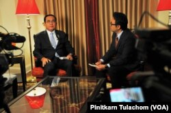 The Prime Minister and Minister of Defense of Thailand, General Prayut Chan-o-cha speaks with VOA Thai in NYC. Sept, 25 2019.