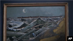 """Totes Meer"" به زبان آلمانی یعنی «دریای مرده»، تابلوی رنگ روغن از آهن پاره های بمب افکن های آلمانی از پل نش ۱۹۴۰-۱۹۴۱"