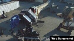 امریکی اور جاپانی روبوٹس کی لڑائی کا ایک منظر