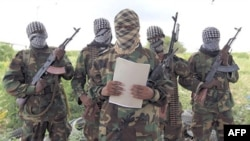 Các chiến binh al-Shabab ở Somalia.