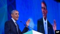 Tổng thống Barack Obama phát biểu tại Manila, Philippines, ngày 18/11/2015.