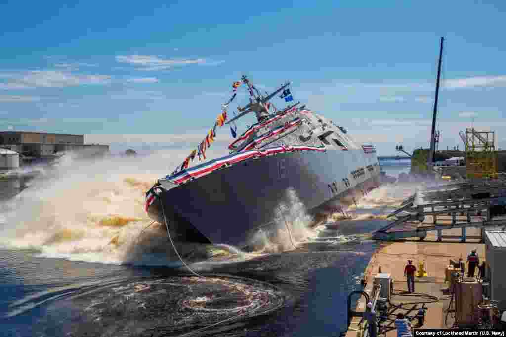 កប៉ាល់ USS Billings (LCS 15) របស់កងទ័ពជើងទឹកនាពេលអនាគតត្រូវបានគេទាញទម្លាក់ចូលទៅ ក្នុងទន្លេ Menominee ក្នុងក្រុង Marinette រដ្ឋ Wisconsin កាលពីថ្ងៃទី១ ខែកក្កដា ឆ្នាំ២០១៧។ នៅពេលដែលមានការប្រកាសជាផ្លូវការ កប៉ាល់ LCS-15 នឹងក្លាយជាកប៉ាល់ដំបូងគេក្នុងចំណោមកប៉ាល់ប្រភេទនេះនៅក្នុងកងទ័ពជើងទឹក។