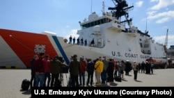 """Візит катера берегової охорони США """"Гамільтон"""" до Одеси, фото посольства США в Україні"""