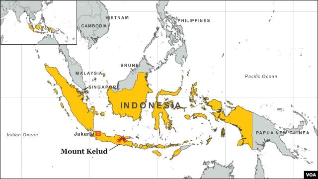 Mount Kelud, Indonesia