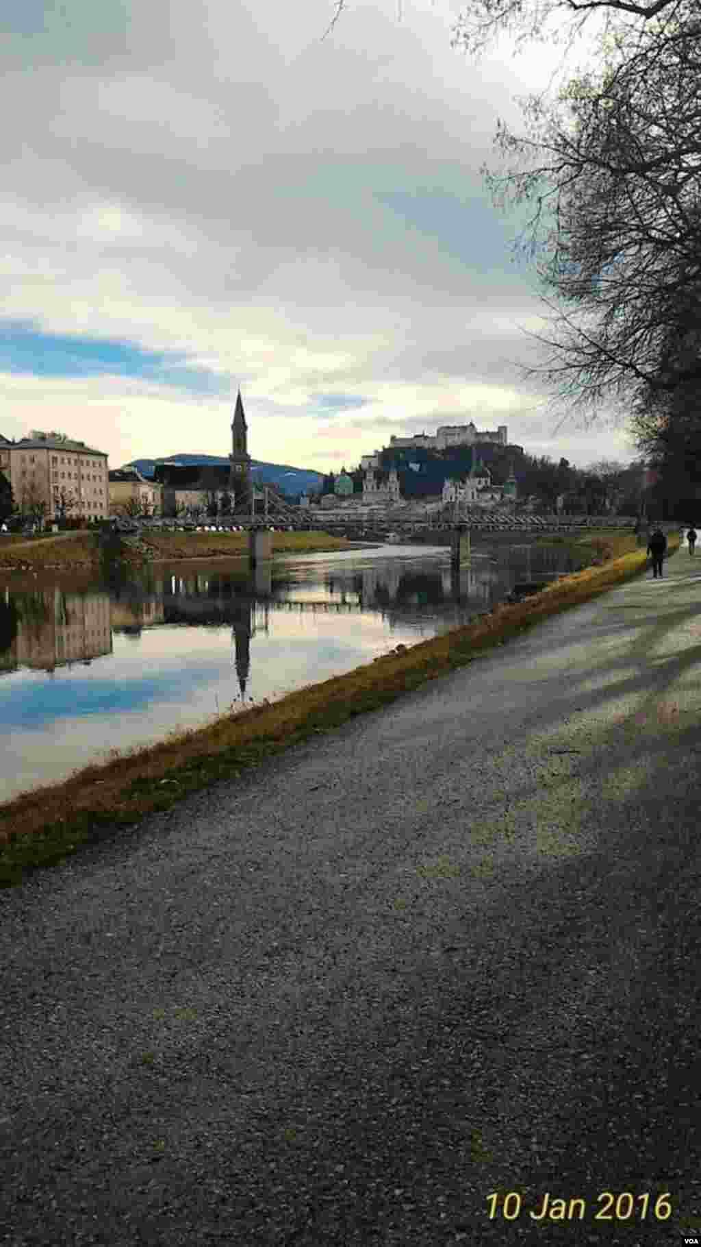 نمایی از شهر سالزبورگ اتریش عکس: شبنم (ارسالی شما)