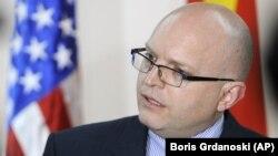 Vršilac dužnosti zamenika državnog sekretara SAD zadužen za Evropu i Evroaziju Filip Riker (Foto: AP/Boris Grdanoski)