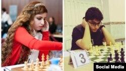 برنا درخشانی ۱۵ ساله و درسا درخشانی ۱۸ ساله شطرنج بازان ایرانی