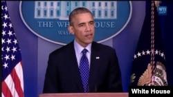 Barack Obama s'exprimant sur l'Irak jeudi 19 mai (Photo Maison-Blanche)