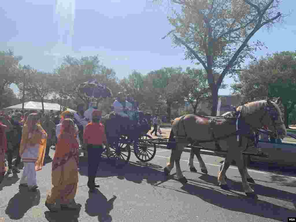 Vaşinqtonda Hindistanlıların dini bayramı qeyd olunub
