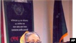 নিউ ইয়র্কে সংবাদ সম্মেলনে শেখ হাসিনা