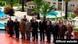 Predsednik Crne Gore Filip Vujanović sa načelnicima generalštabova država Balkana (rtcg.me)