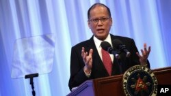 """Tổng thống Philippines Benigno Aquino phát biểu tại phiên họp đặc biệt của Hội nghị quốc tế về """"Tương lai của châu Á"""" tại Tokyo, ngày 3/6/2015."""
